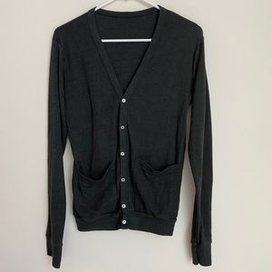 American Apparel dark gray button cardigan